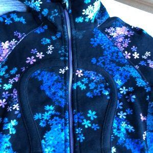 lululemon athletica Tops - Lululemon (4) Black Floral Scuba Hoodie.